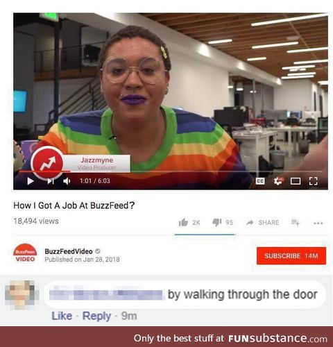 """Her face just says """"buzzfeed"""""""