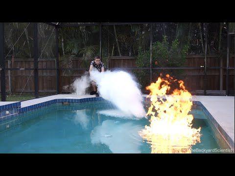 Using Liquid Nitrogen Put Put Put A Pool On Fire