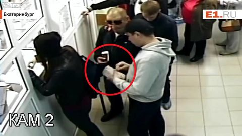 Girl cuts in front of guy in line, guy picks her purse in retaliation like it's nothing
