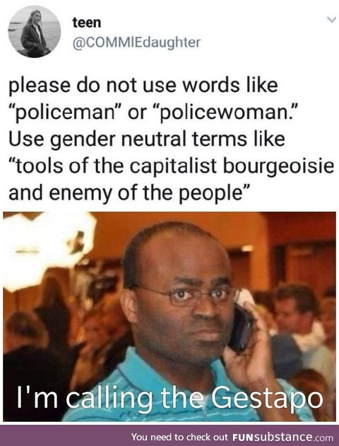 Policeman is de way