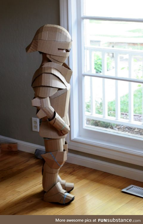 Kid's armor made out of cardboard