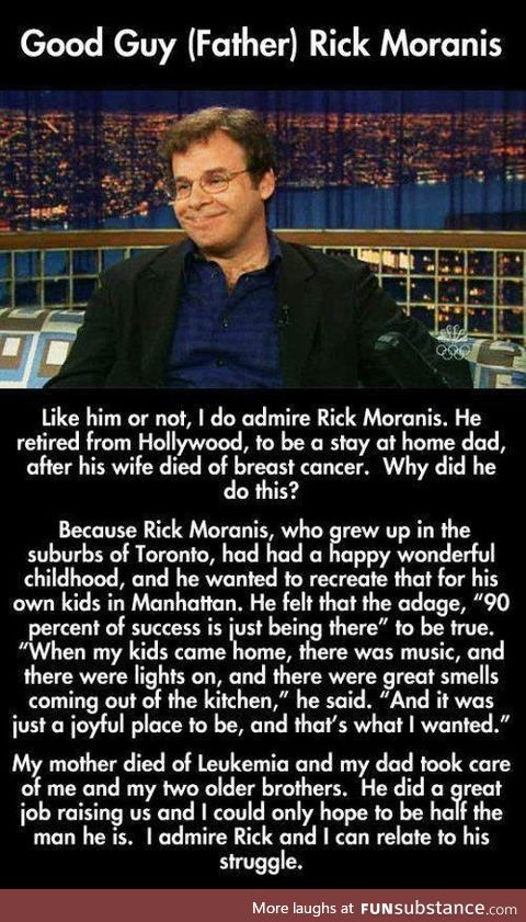 Rick Moranis was already one of my all time favorites, now I appreciate him even more