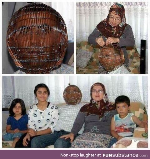 Man locks his head in a cage in an attempt to quit smoking. Wife has the key