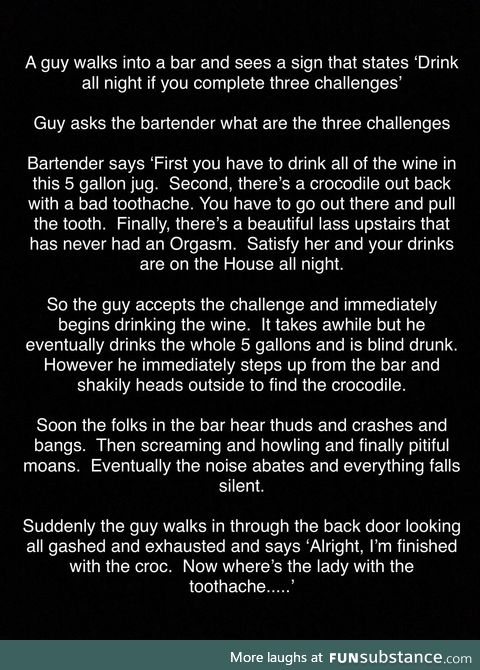 Guy walks into a bar.