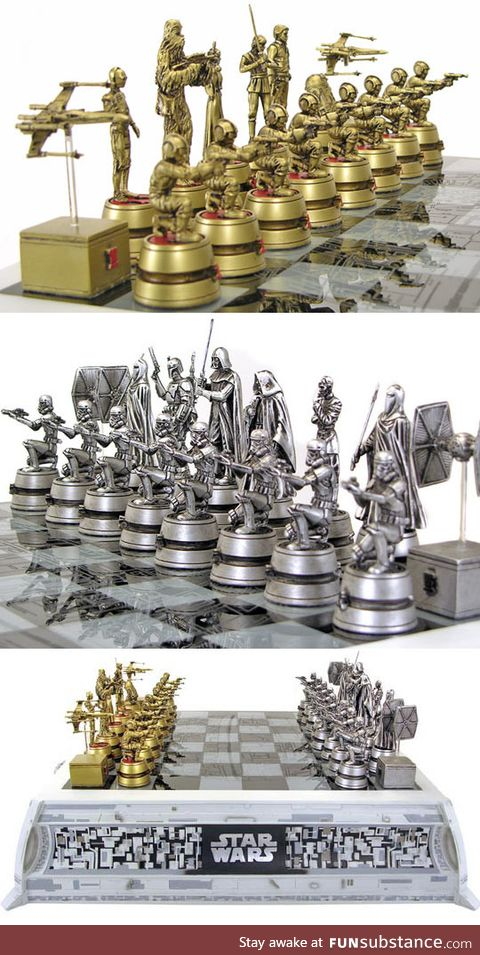 Epic star wars chess set