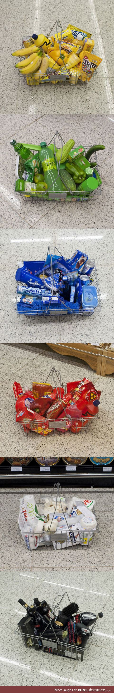 Buying groceries by color