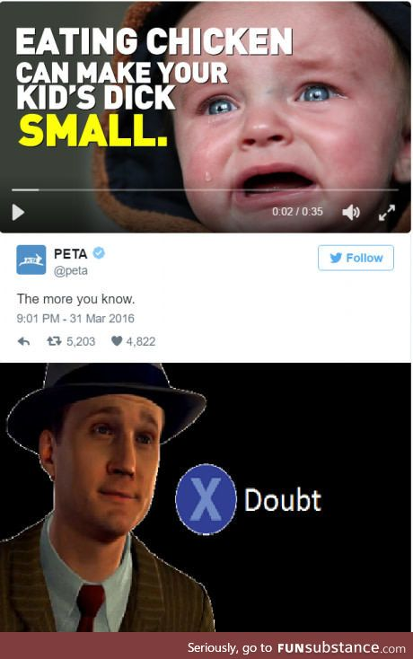 Not sure if PETA or p*do