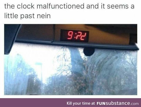 Would you look at the time!
