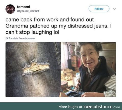 Grandma has a problem with needles