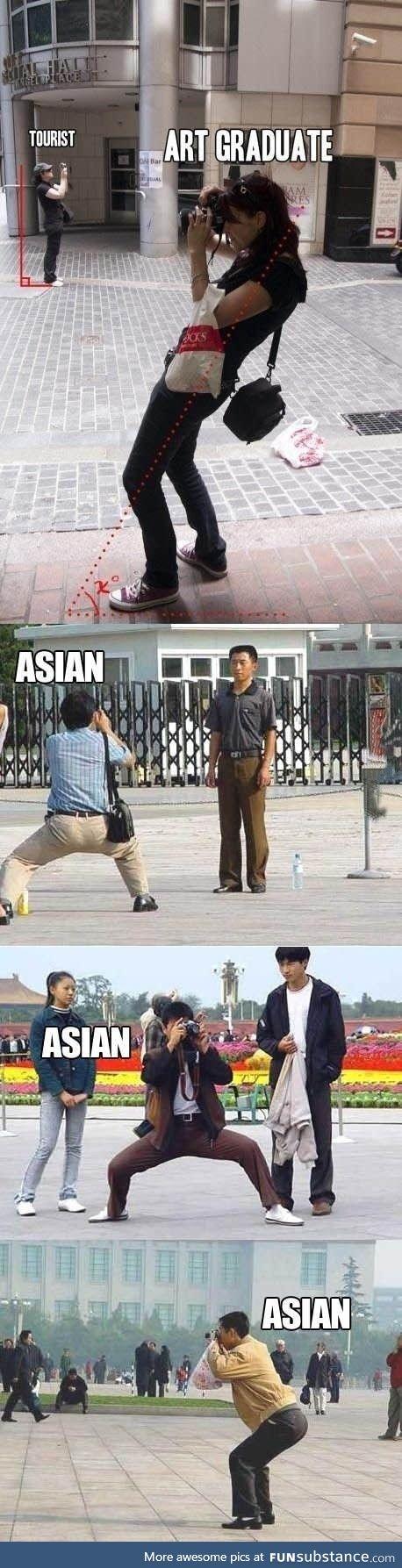 Photography: Tourist vs. Arts graduate vs. Asian