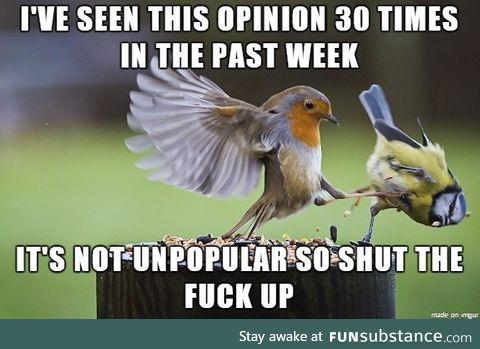 Unpopular popularity