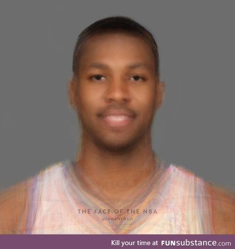 After morphing almost 400 current players, this is what the average NBA face looks like