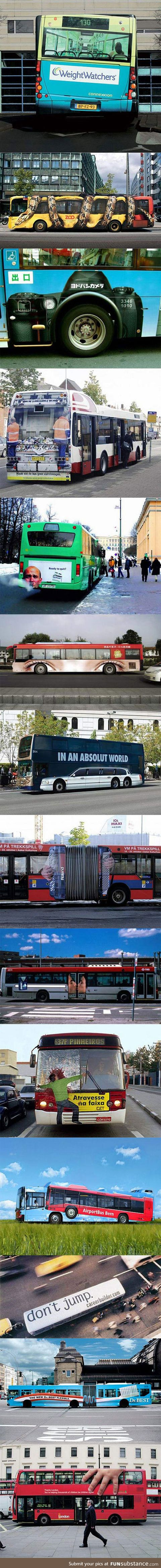 When buses get creative