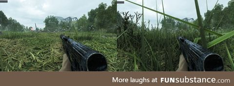 Undergrowth quality high vs low - this shouldn't be allowed in multiplayer