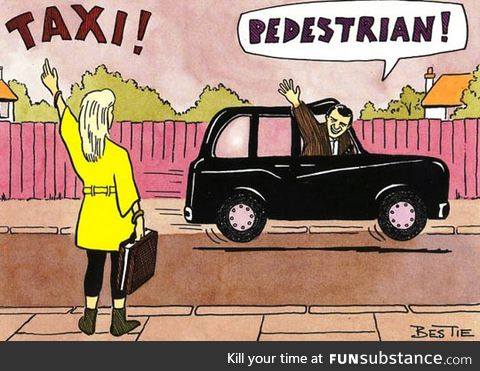 Calling for a taxi