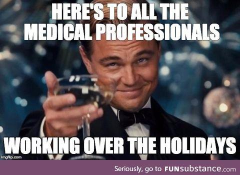 Unfortunately illnesses don't take holidays off