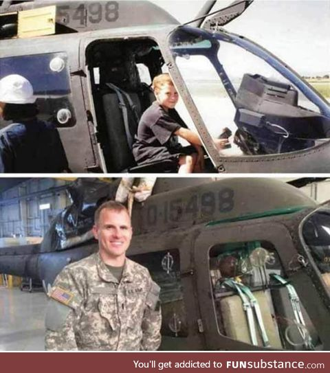 The pilot was amazed at the fact that the helicopter he had received for missions was the