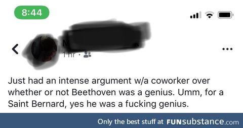 Beethoven was a genius
