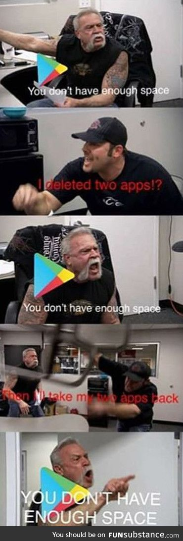 You don't have enough space
