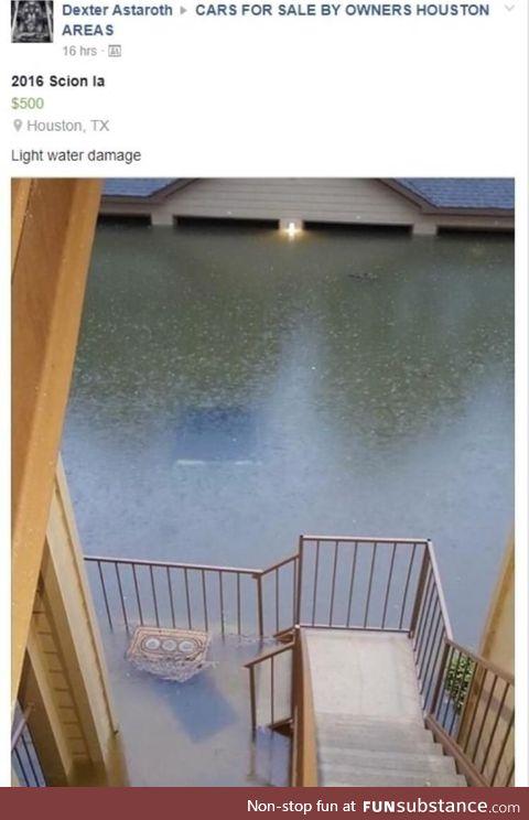 Light water damage