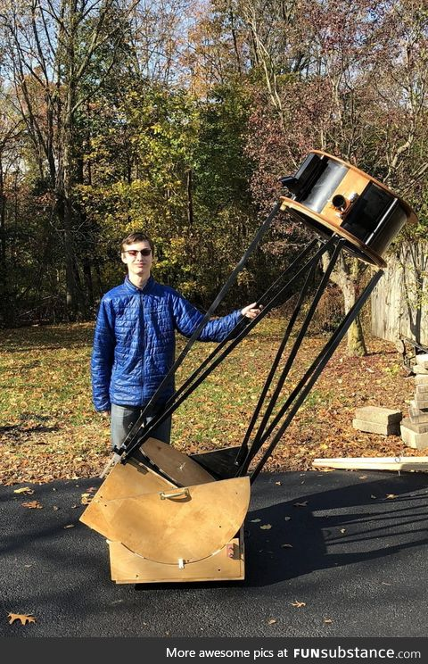 """I make telescopes. Here's my 20""""/0.5-meter, largest I've built to date"""