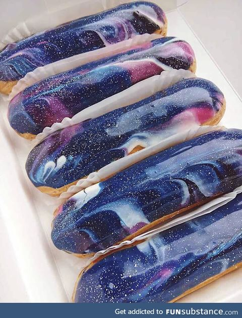Ukrainian bakery creates galaxy eclairs