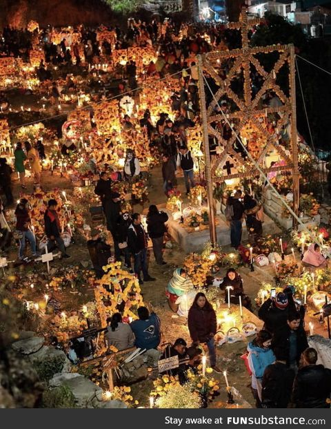 Day of the dead traditional festival in Janitzio, Mexico