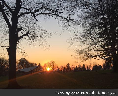 Sunset in Long's Park, Lancaster, Pa
