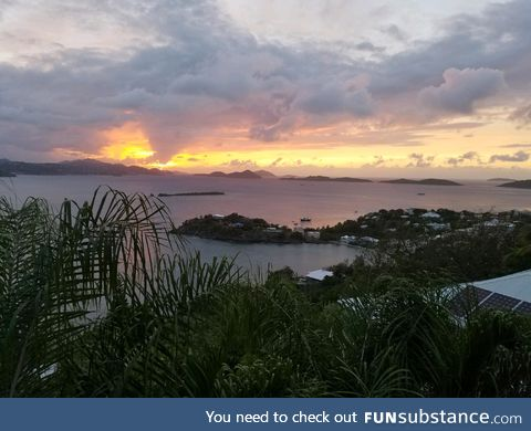 Sunset in my little corner of the world (the Virgin Islands)