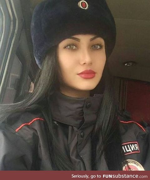 Russian military woman