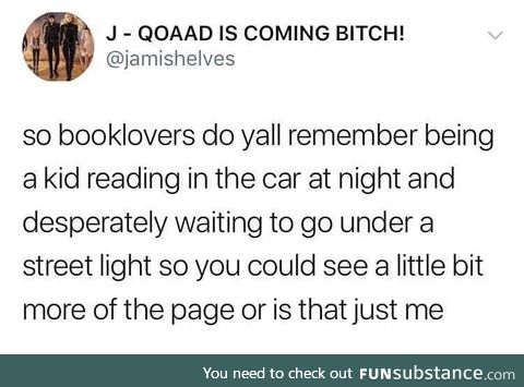 My mom used to say reading in the dark ruined your eyes
