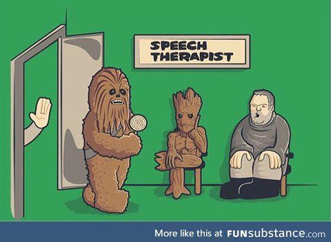 Tough job for this speech therapist