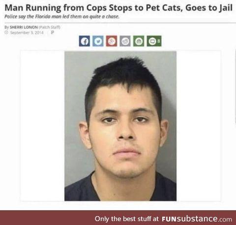 Florida man has his priorities straight