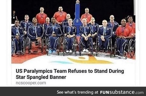 US team refuses to stand during anthem