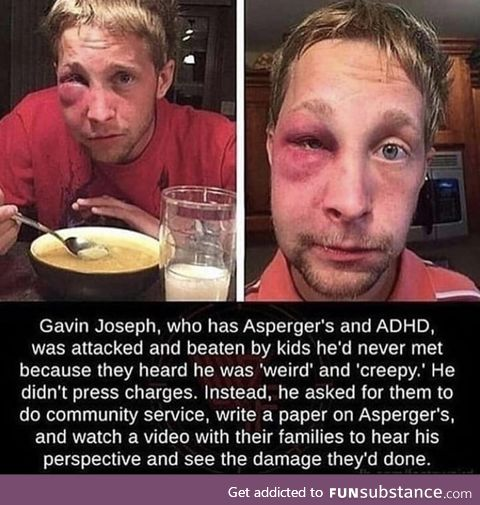 Guy tries to educate attackers rather than pressing charges