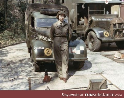 Queen Elizabeth used to be a truck mechanic
