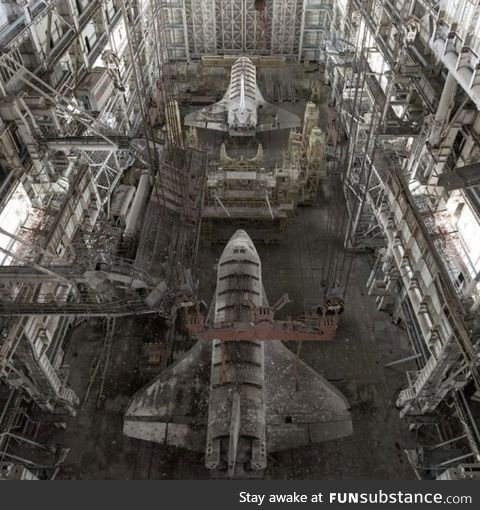 Russian space shuttles left abandoned for 30 years