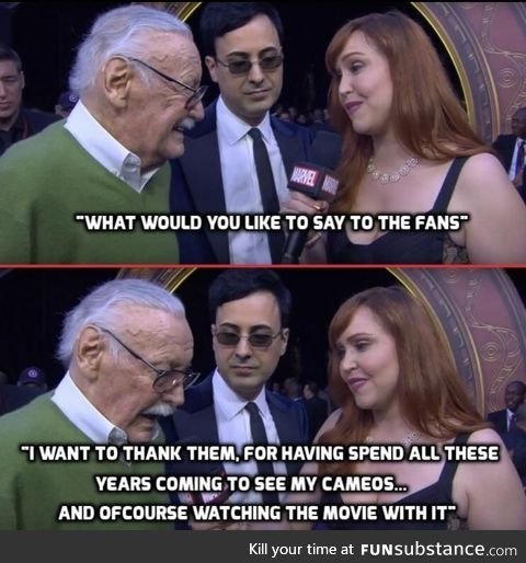 We'll miss you Stan Lee