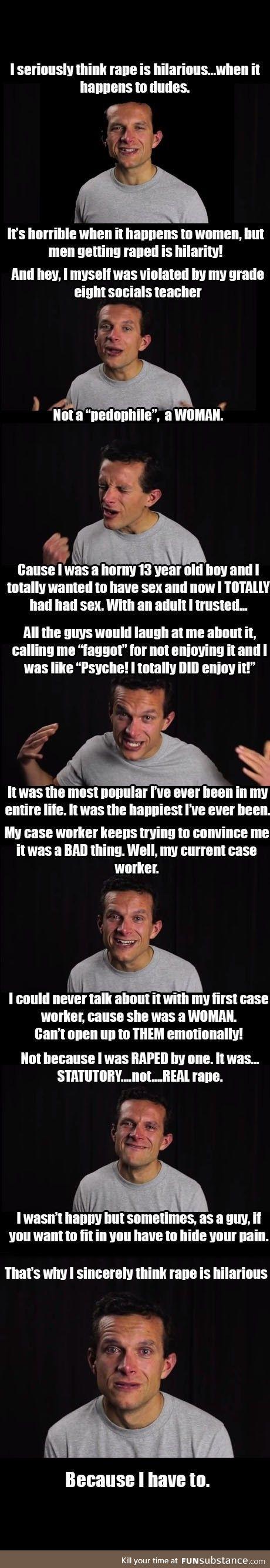 Rape is hilarious