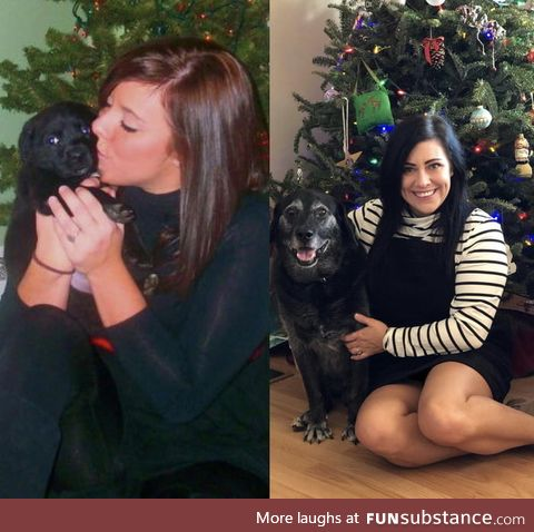 Our 1st Christmas together and our 12th Christmas together