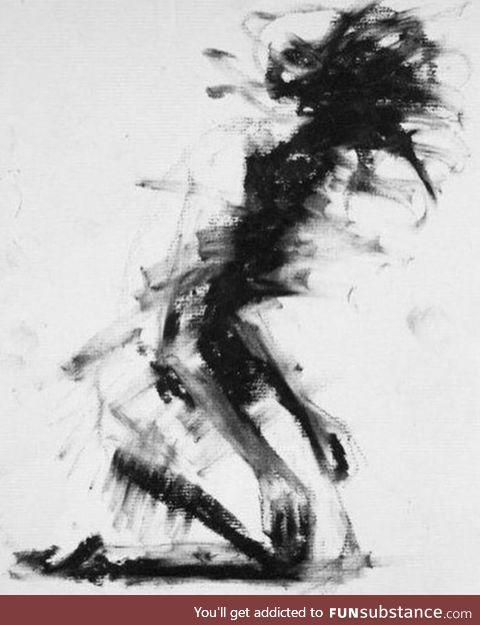 Artists impression of depression
