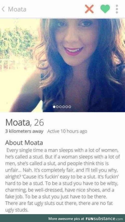 Hats off to all the people who get it, including Moata