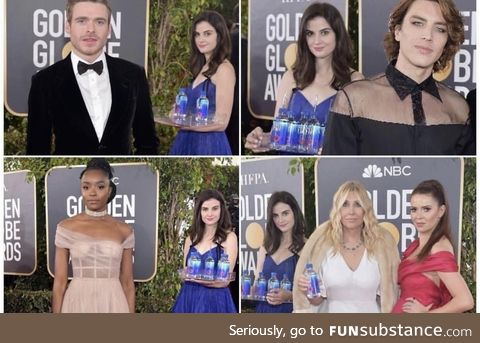 The Fiji water lady is the real winner of the Golden globes