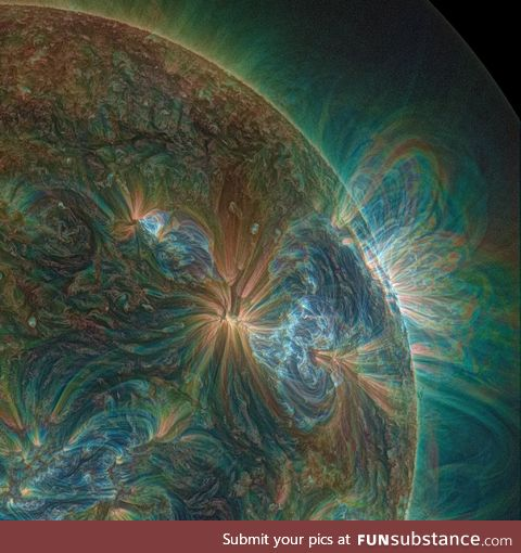 How the sun looks through a UV lens