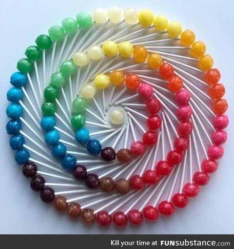 A dum dum color wheel