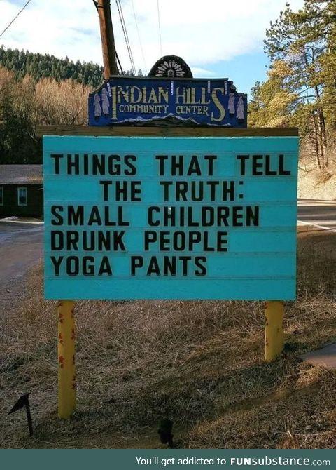 Yoga pants tell no lies