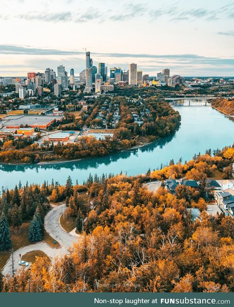 Edmonton, Alberta in the fall