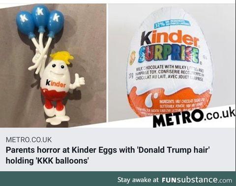 Orange man found in kinder egg