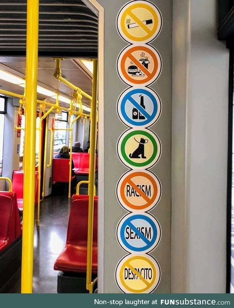 New signs in the viennese metro