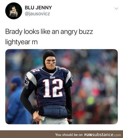 Brady Lightyear. To the superbowl - and beyond!